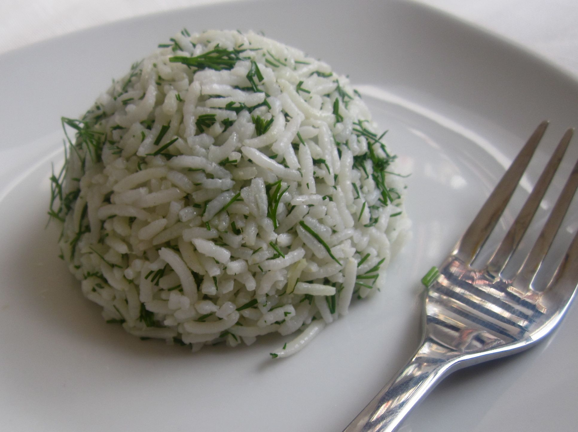 Dill Rice the Afghani Way- Chelo Shibit