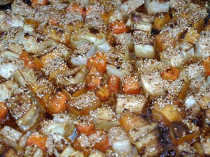 Sesame Roasted Root Vegetables
