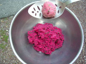 Beet Dumplings