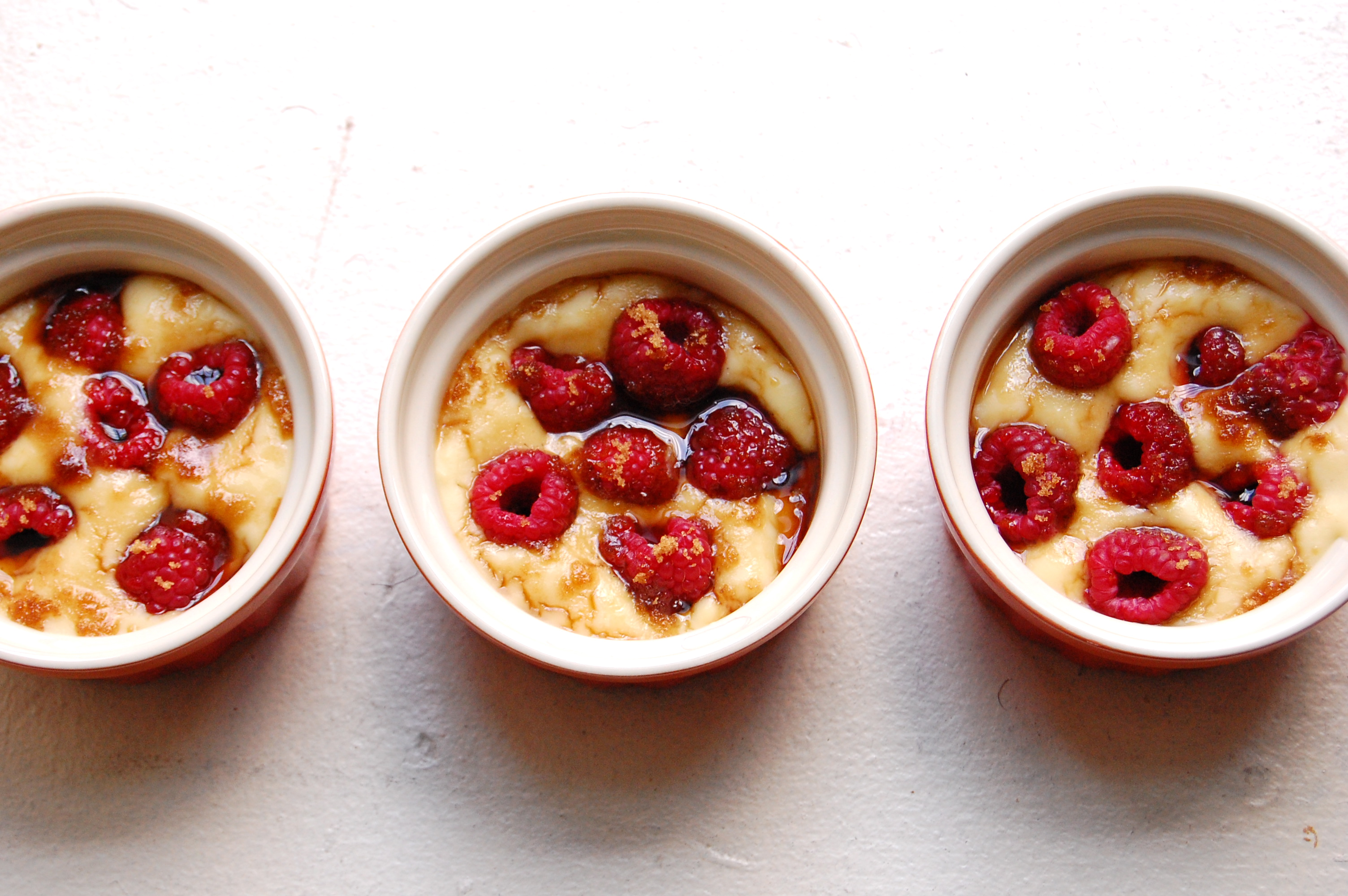 Raspberry Custard Cups