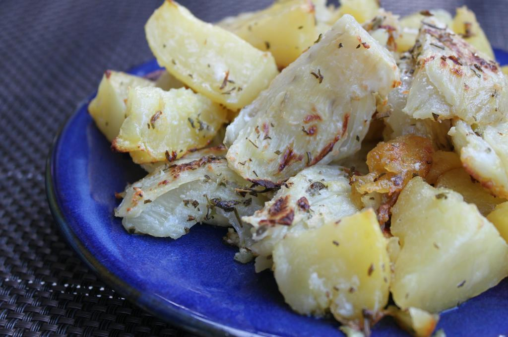 Crispy Cream-Braised Potatoes and Fennel