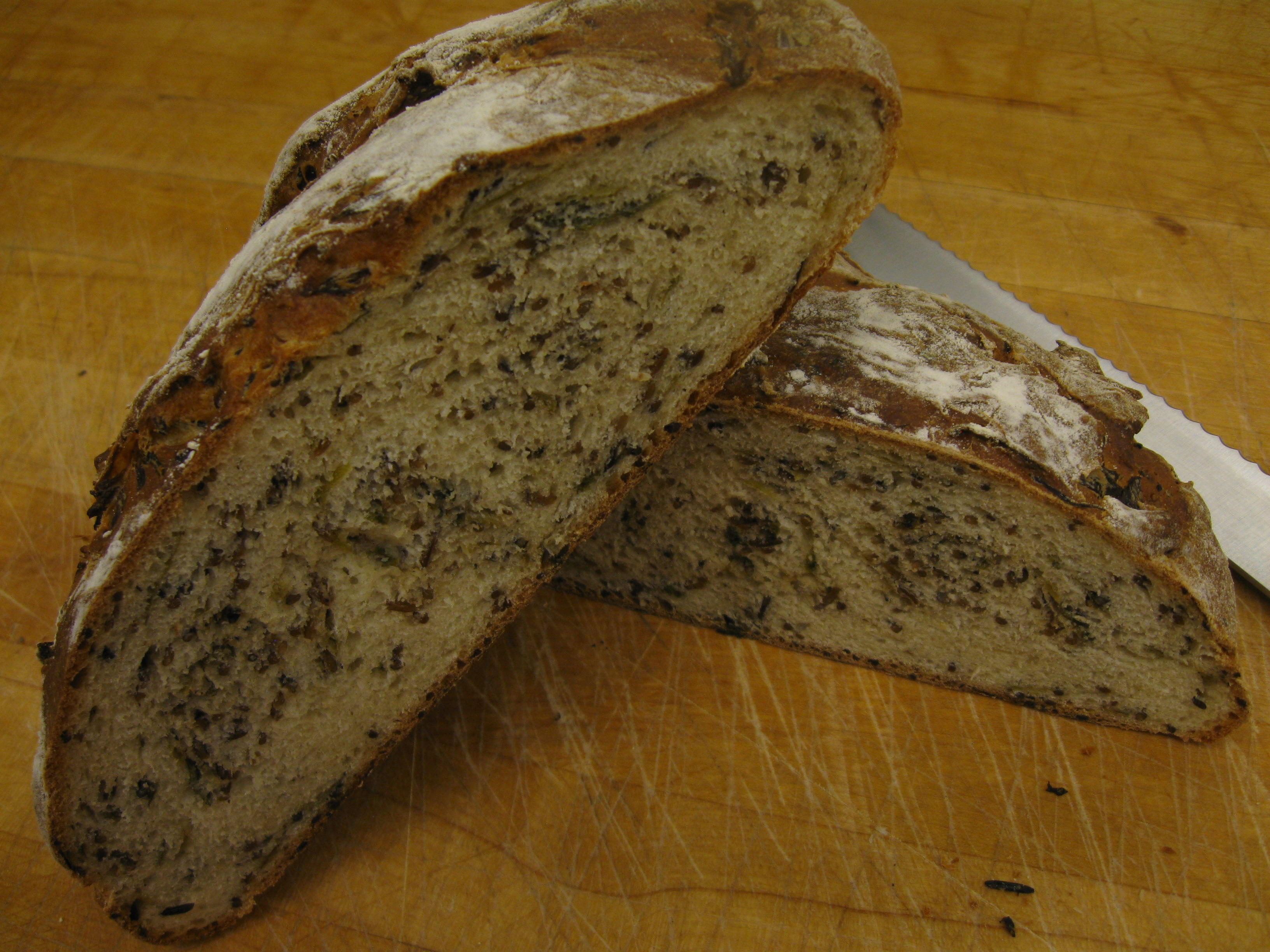 Wild Rice &amp; Green Onion Bread