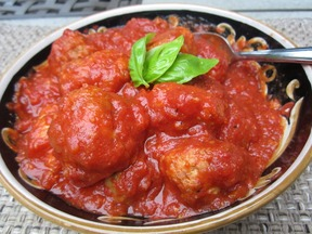 Simmered Italian Sausage and Meatballs