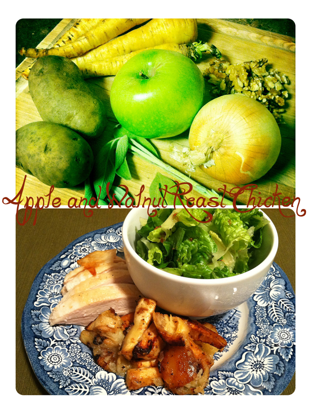 Apple and Walnut Roast Chicken