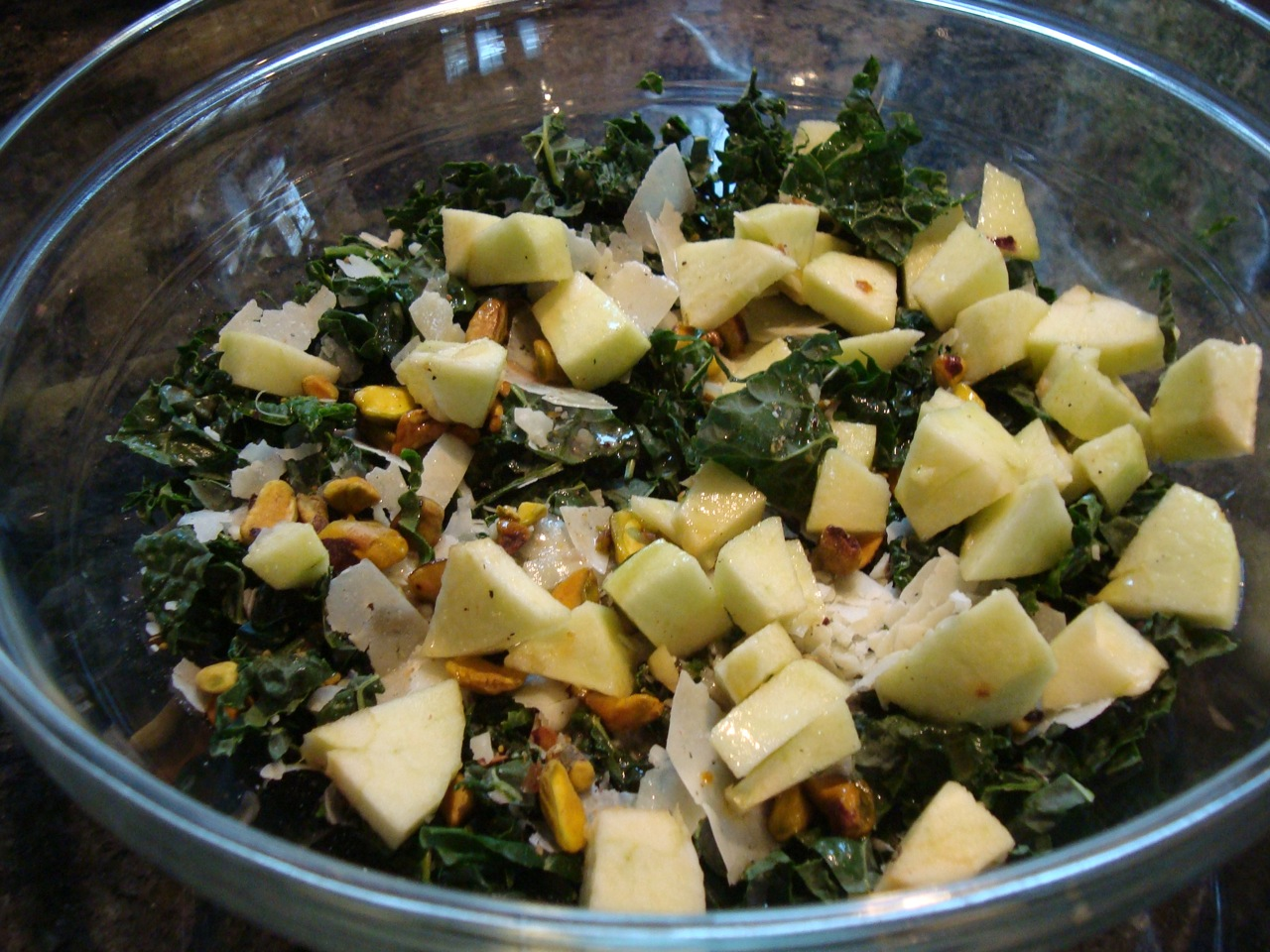 Ode to My Apple Tree Kale Salad