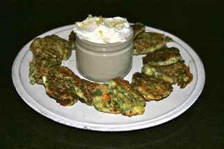 GREEK STYLE ZUCCHINI PANCAKES