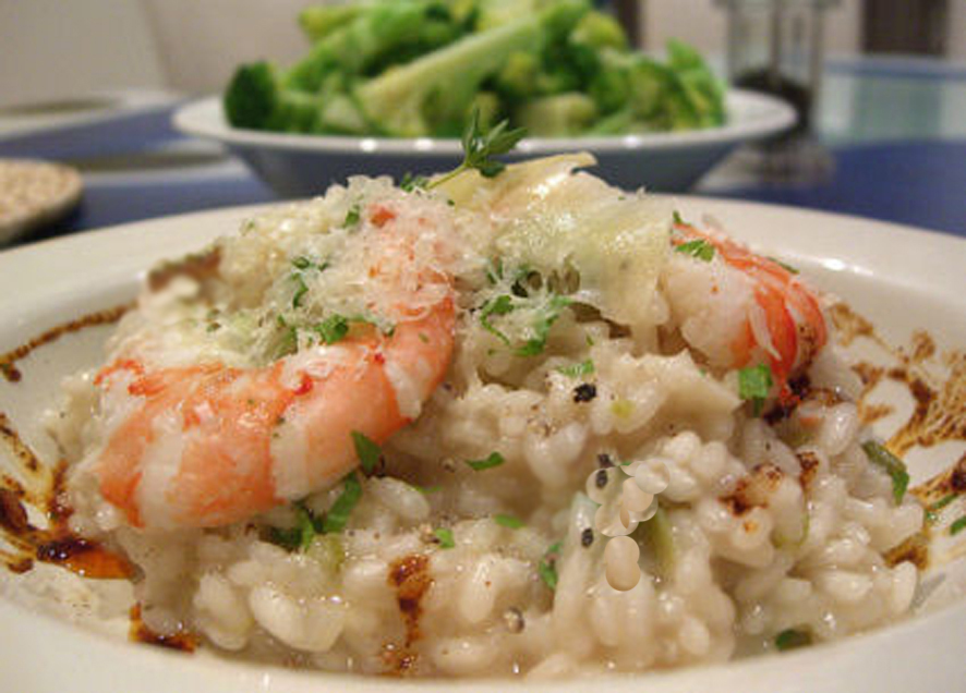New Year's Champagne and Scampi Risotto