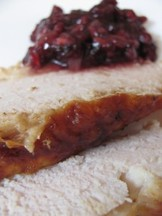 Cumin Turkey Breast with Pomegranate Sauce