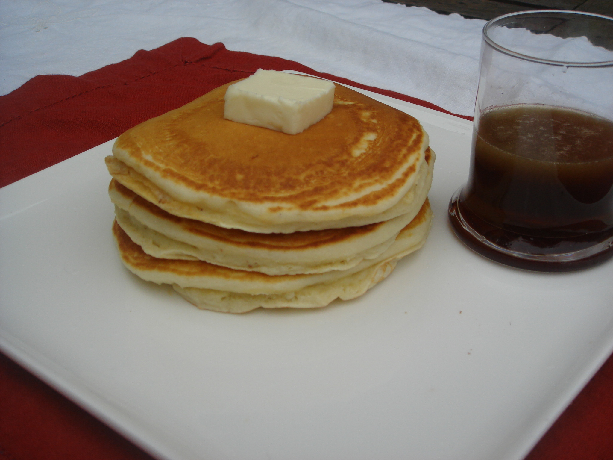  Pancakes With Buttery Bourbon Maple Syrup