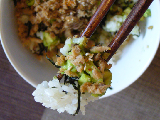 Tuna Avocado Rice Bowl
