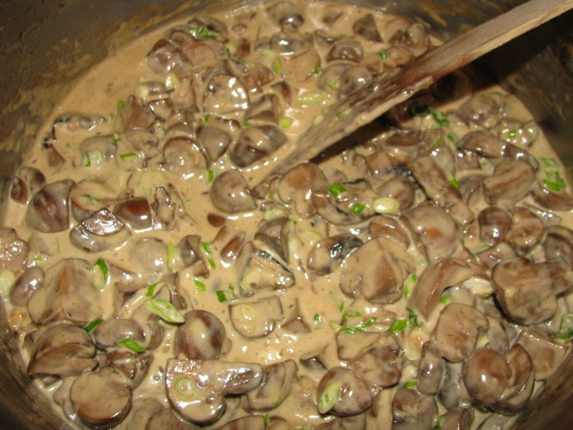 Brandied Creamed Mushrooms