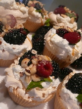 Mini Garden Mint and Berry Pavlovas