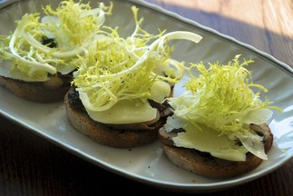 Lemony Mushroom and Frisee Toasts