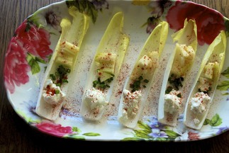 Green and Red Endive Boats