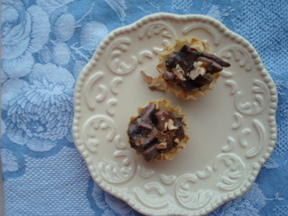 Hot Mushroom, Toasted Walnut, and Camembert Filo Tartlets