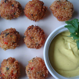 Crab-and-scallop-cakes