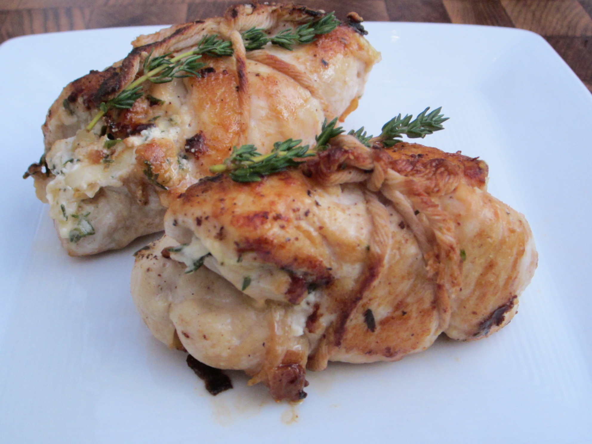 Bundled Chicken with Goat Cheese & Fresh Thyme