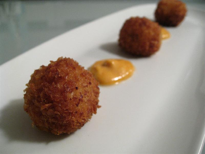 Serrano Ham and Manchego Croquetas with Smoked Pimentn Aioli