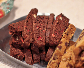 Peppermint Chocolate Biscotti