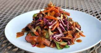 Thai Peanut Salad with Homemade Canadian Bacon