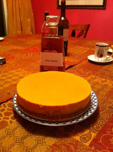 Thanksgiving Dulce de Leche Pumpkin Mousse Cheesecake