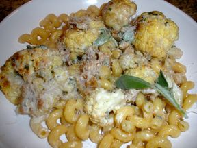 Pasta with Roasted Cauliflower, Sage and Walnut Sauce