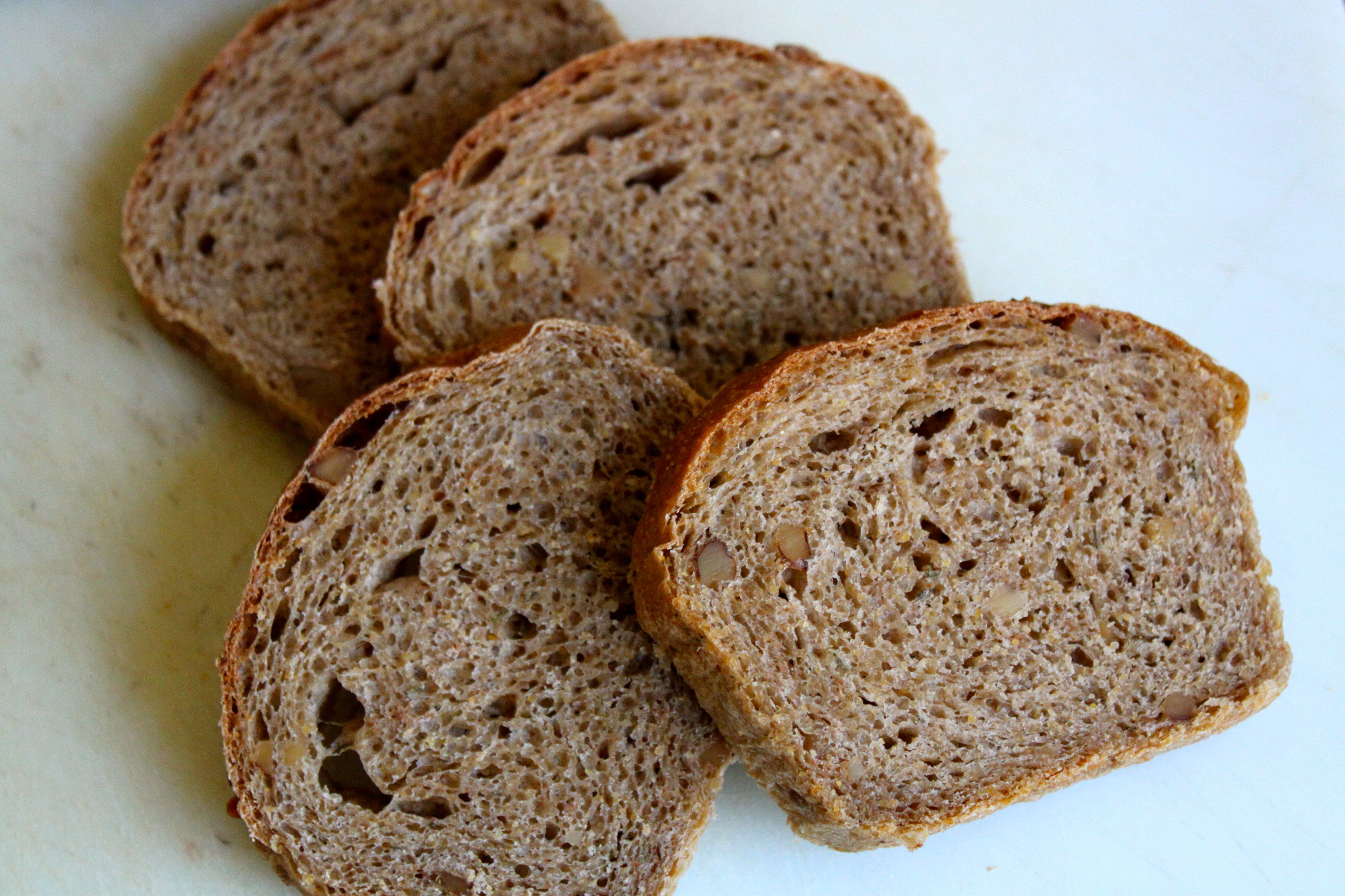 Walnut-Sage Anadama Bread
