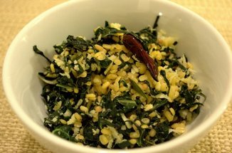 Stirfried Kale with split mung & coconut