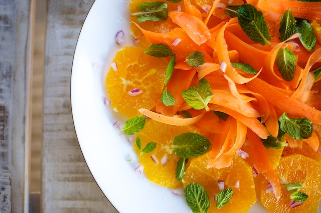 Effortless Clementine, Carrot and Mint Salad