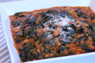 Braised Kale and Cannellini Beans
