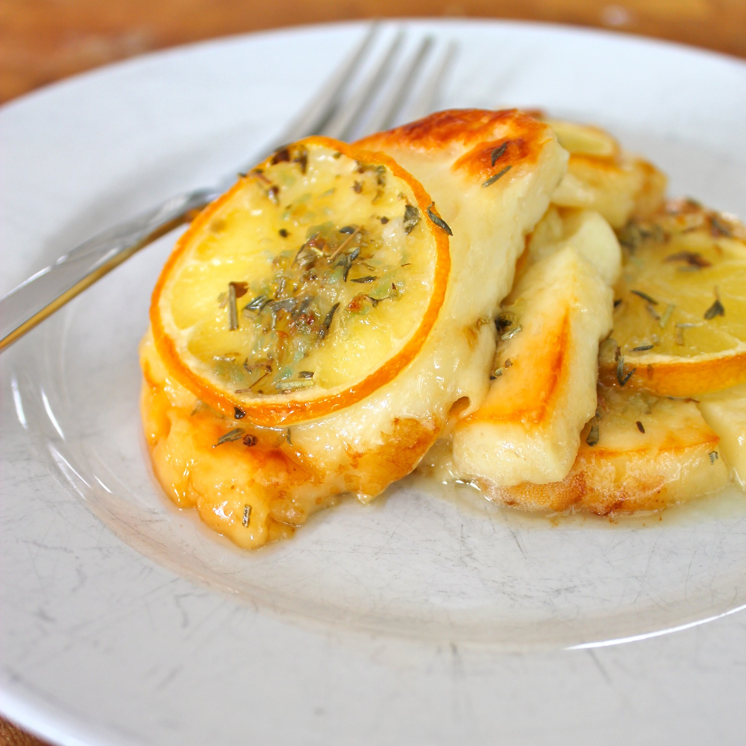 Grilled Lemon Halloumi