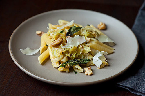 Pasta with Caramelized Cabbage
