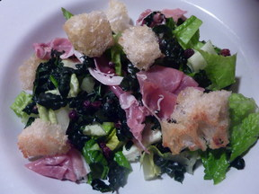 Winter Bread Salad With Prosciutto and Kale
