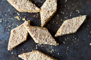 Lemon Almond Cornmeal Diamonds