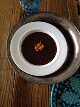 Cumin-Orange Chocolate Semolina Pudding