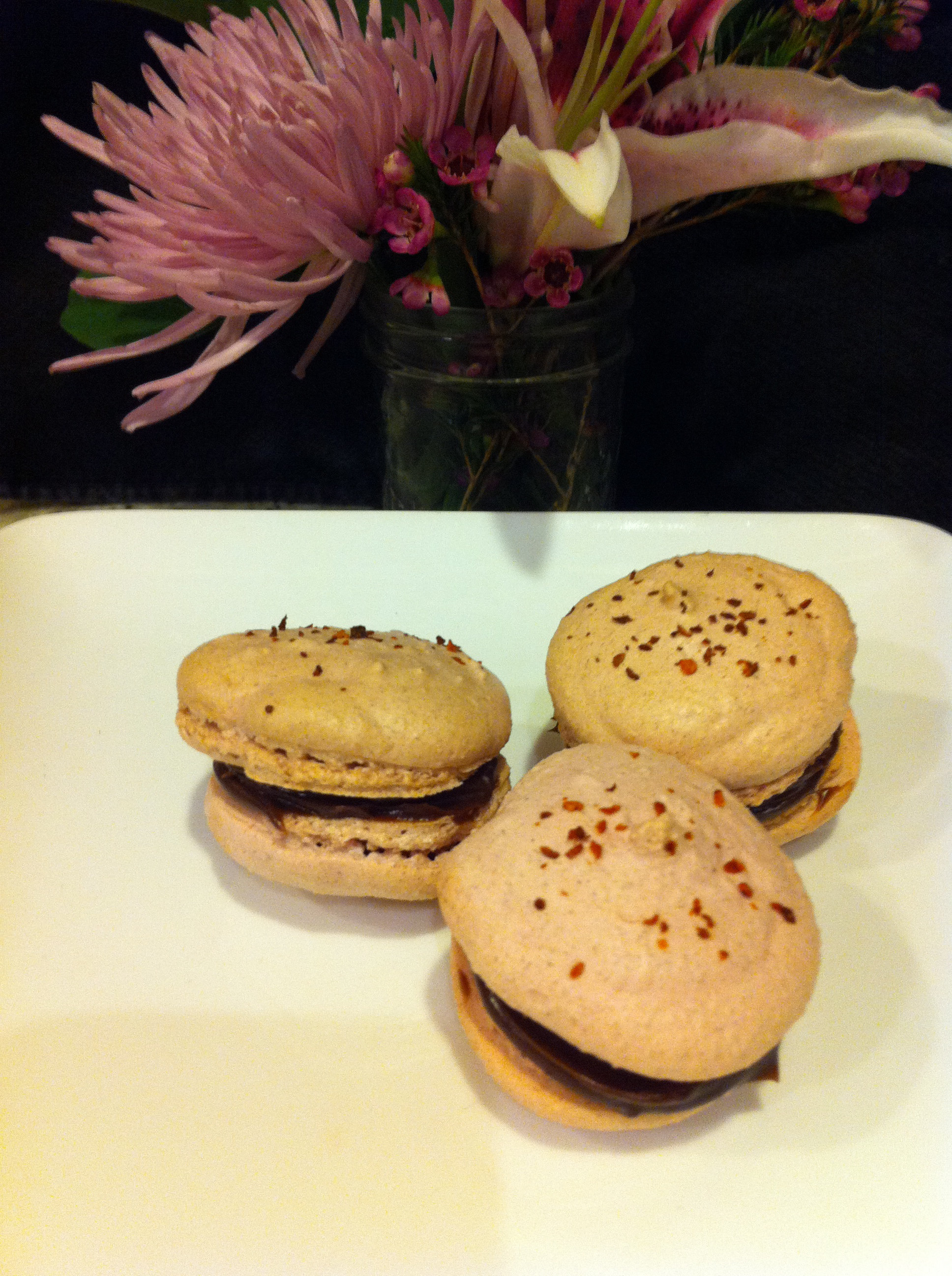 Spicy Mexican Hot Chocolate Macaron