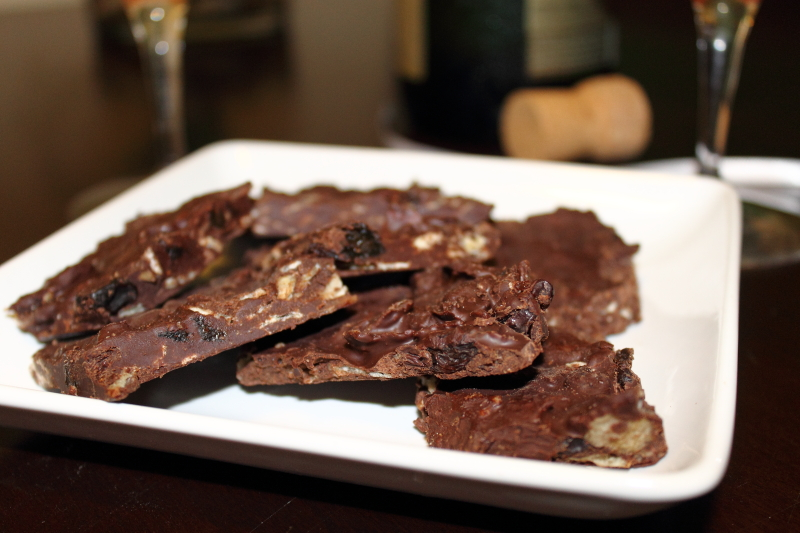 Spice It Up Chips and Chocolate Bark
