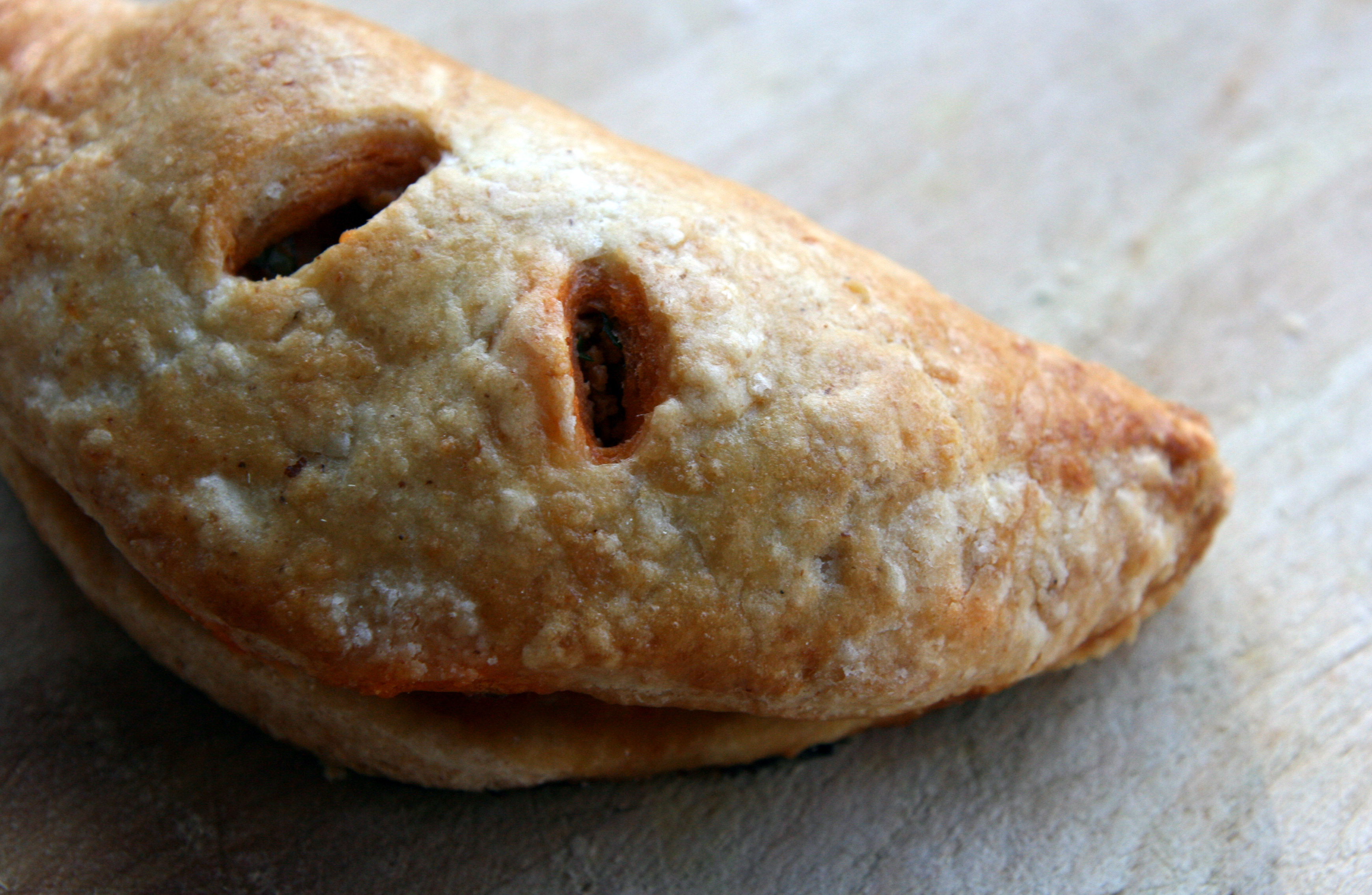 Smoky Tuna-Cauliflower Turnovers in an Orange-Scented Dough