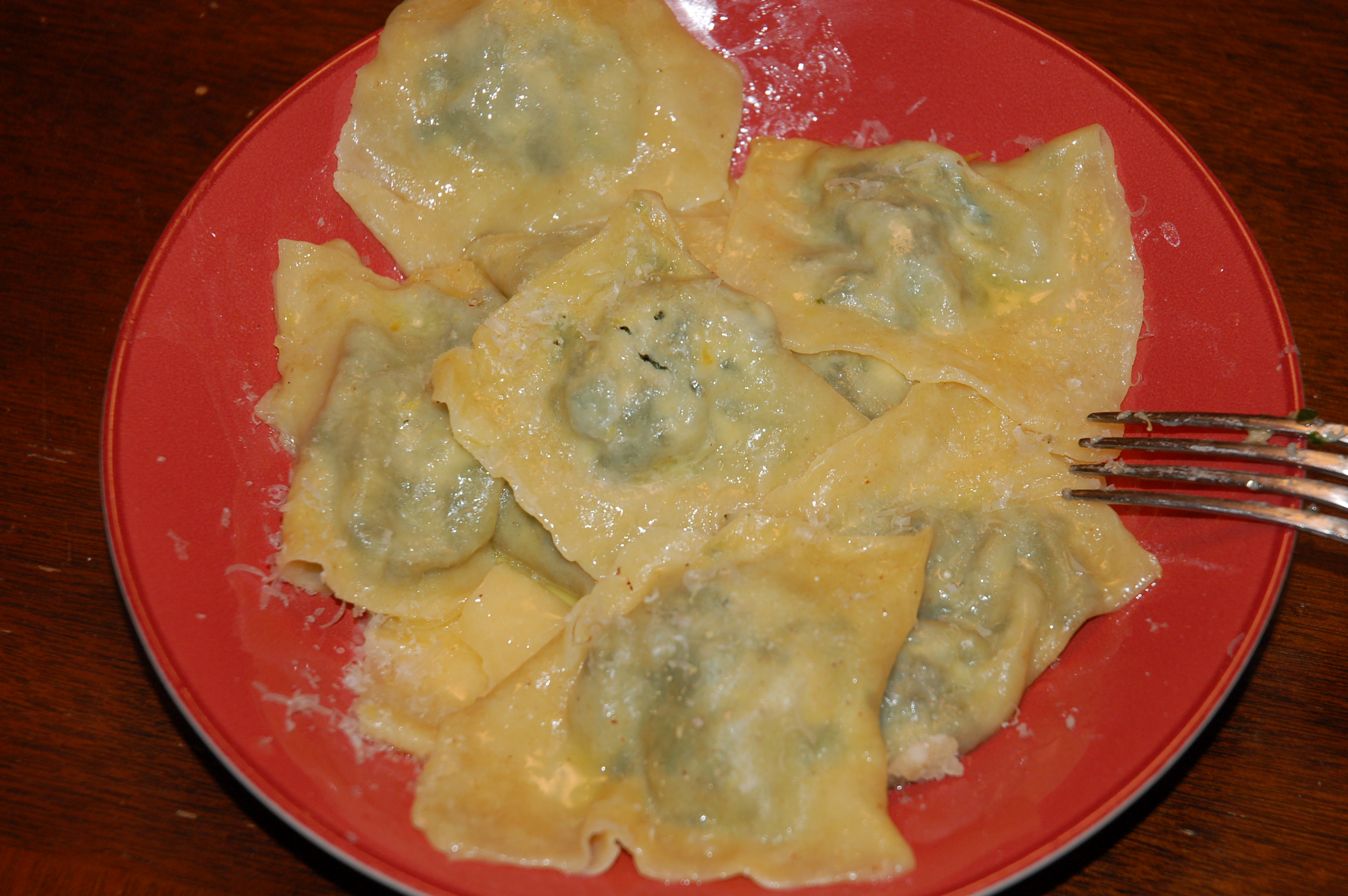 Greens-Goat Cheese-Lemon Ravioli