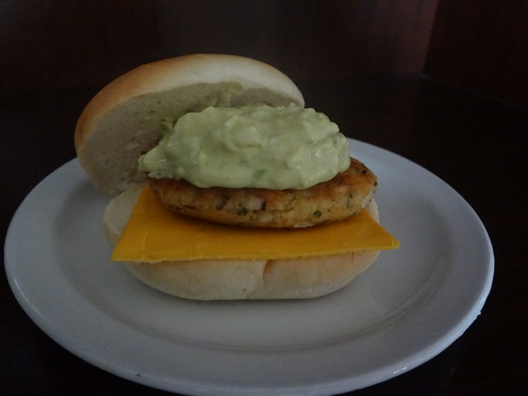 Salmon Burger Avocado Tartar Sauce