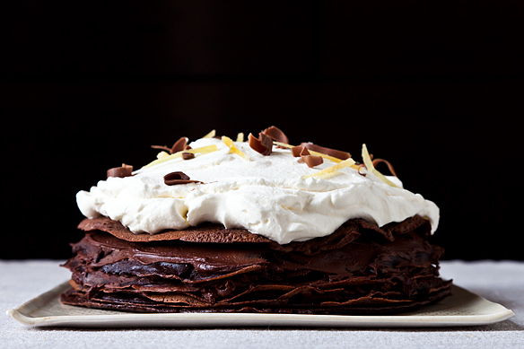 Spicy Chocolate Mousse Crepe Cake by meganvt01