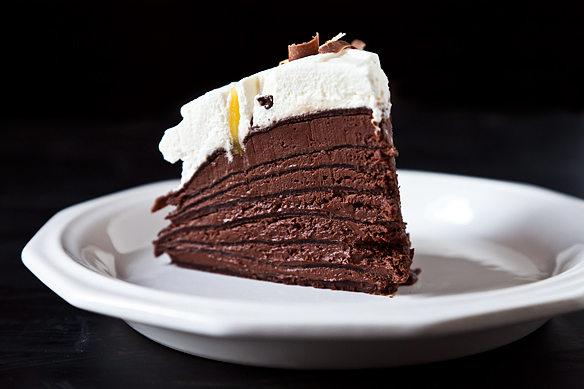 Spicy Chocolate Mousse Crepe Cake Recipe on Food52