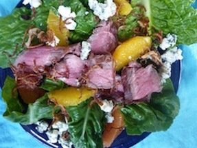 Steak &amp; Citrus Salad with Fried Shallots