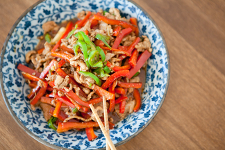 Shredded Pork with Bell Peppers