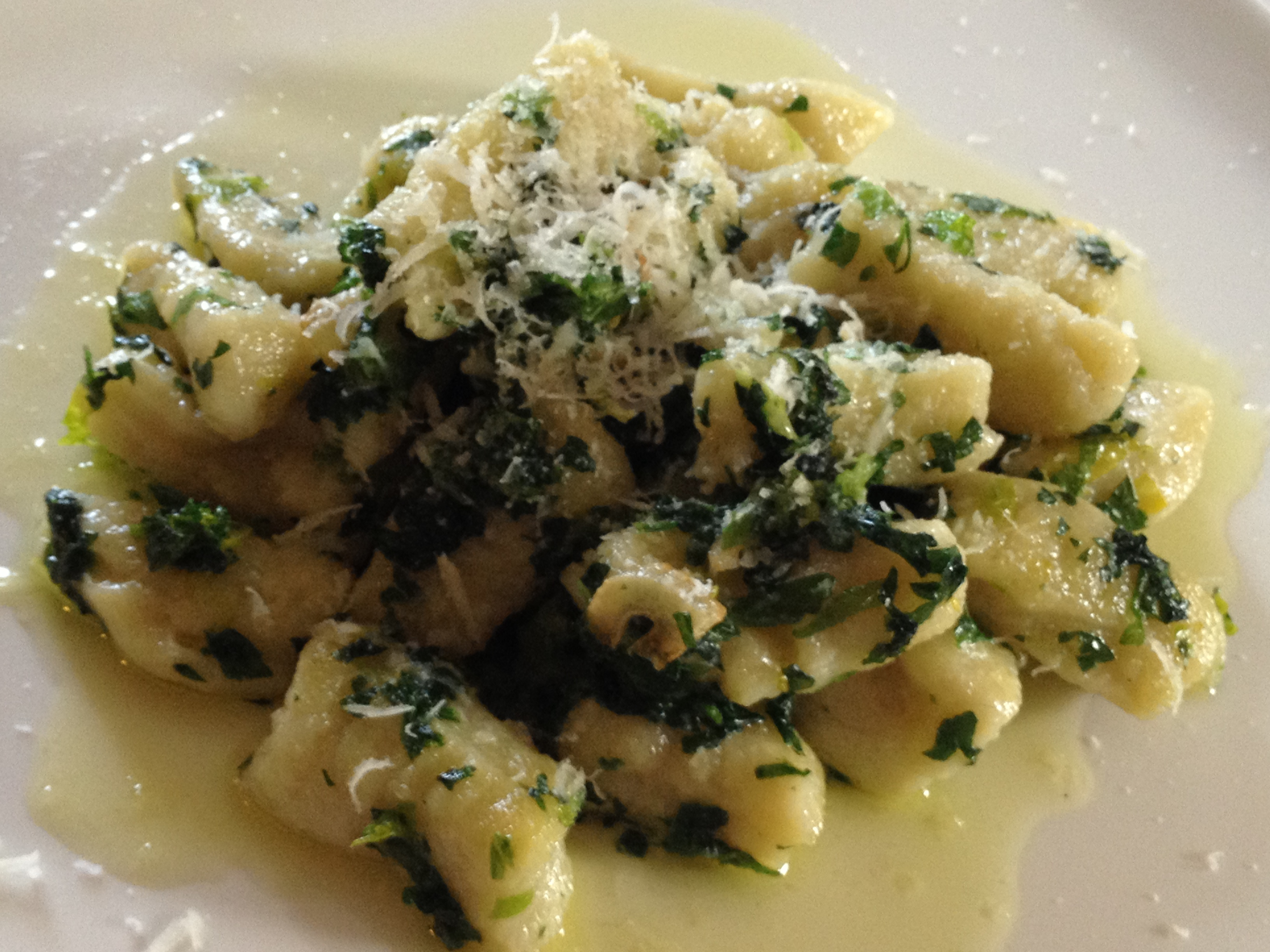 Celery and Potato Gnocchi With Herb Sauce