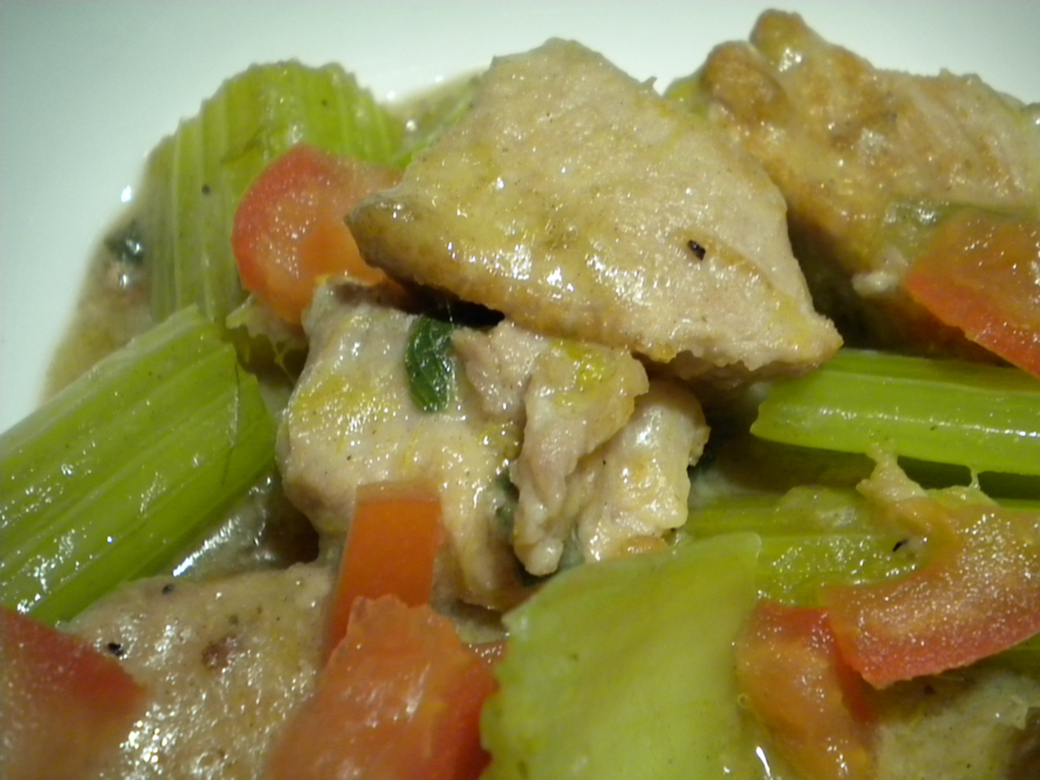Celery and Pork Stew Taverna Style