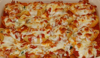 Spinach and Ricotta-Stuffed Shells