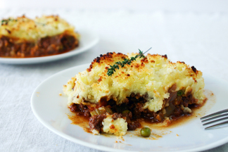 Chunky Shepherd&#x27;s Pie with Panko Parmesan Crust