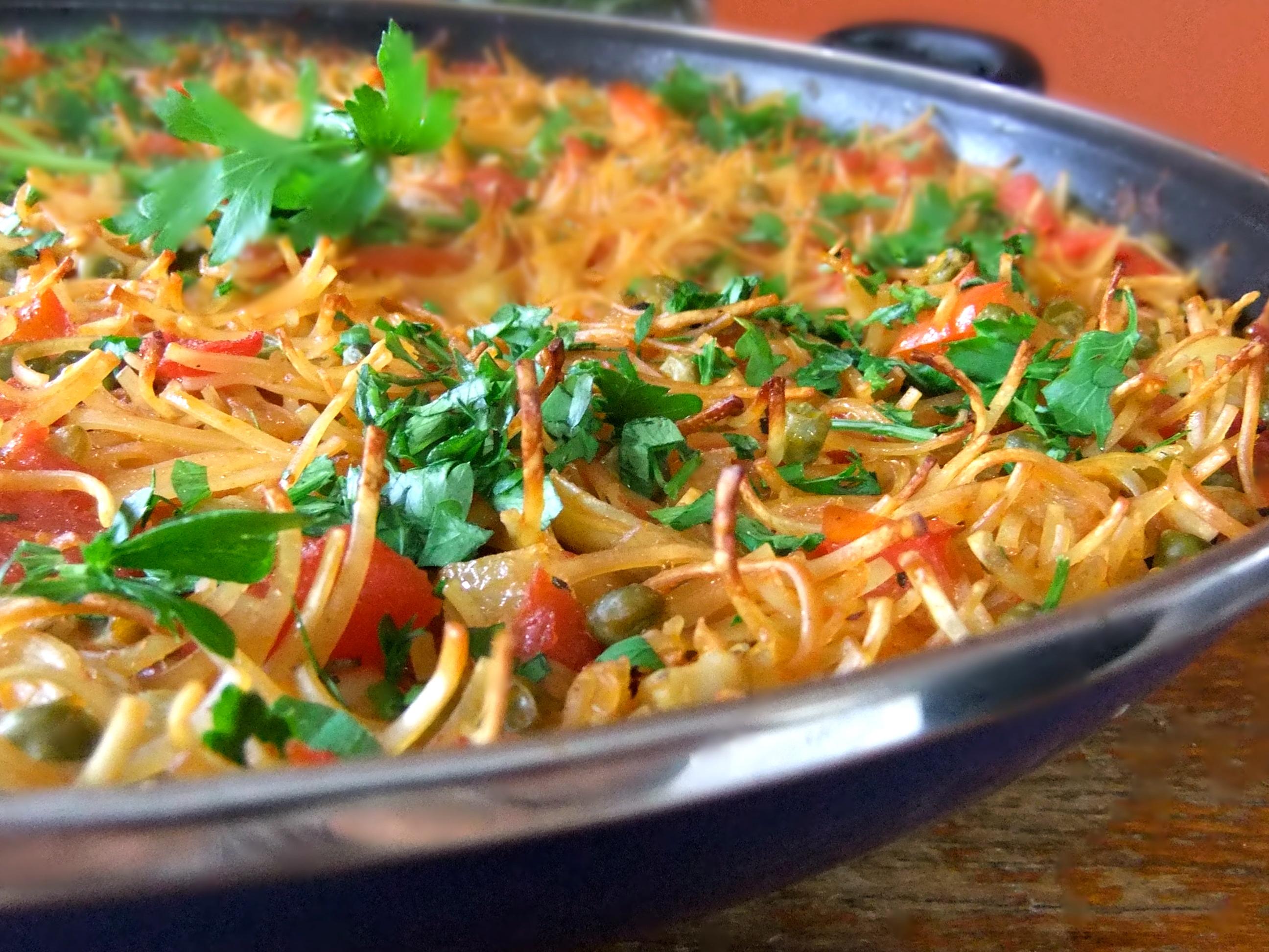 VEGAN FIDEUA - SPANISH NOODLE PAELLA Recipe on Food52