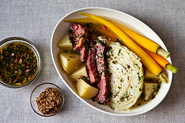Suzanne Goin&#x27;s Corned Beef and Cabbage with Parsley-Mustard Sauce